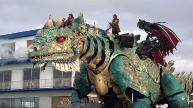 na severe francii poselilsja drakon